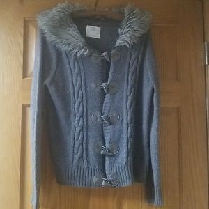Justice Girls Size 18 Gray Sweater